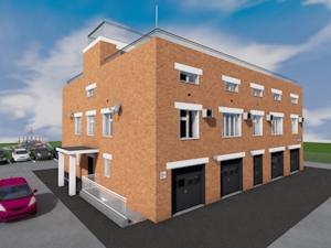 Проект двухэтажного офисного здания с паркингом и торговыми помещениями