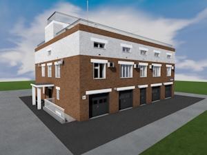 Проект двухэтажного паркинга закрытого типа с офисными помещениями