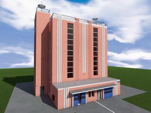 Проект многоэтажного механизированного подземно-надземного паркинга на 88 машино-мес