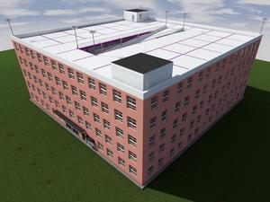 Проект многоэтажного паркинга закрытого типа