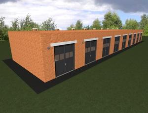 Готовый проект двухэтажного гаража