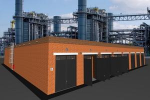 Проект гаража для грузовиков и фур со складскими помещениями
