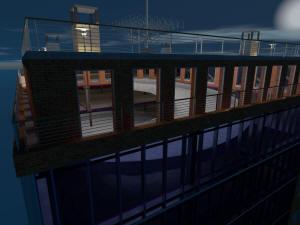 Многоэтажный паркинг 3d ночной вид