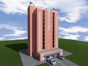 Проект многоэтажного механизированного паркинга закрытого типа на 88 машиномест