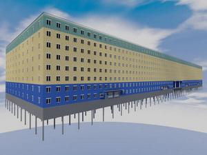 Проект многоэтажного паркинга закрытого типа на 3660 машиномест с вертолетными площадками на крыше