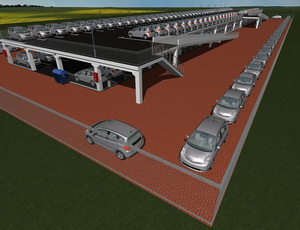 Проект двухэтажного паркинга открытого типа на 145 машиномест
