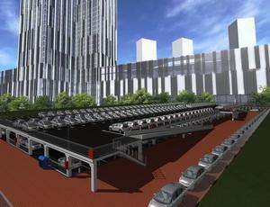 Проект двухэтажного паркинга открытого типа на 280 машиномест