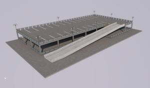 Проект двухэтажного гаража открытого типа
