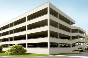 Проект четырехуровневого гаража открытого типа