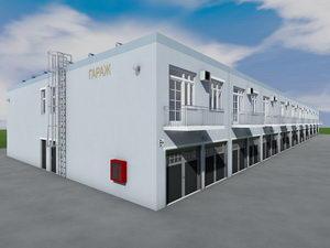 Проект 20 блокированных двухэтажных гаражей с коммерческими помещениями на 40 машиномест