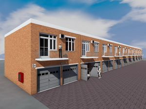 Проект 10 двухэтажных гаражей на 20 машиномест с коммерческими помещениями