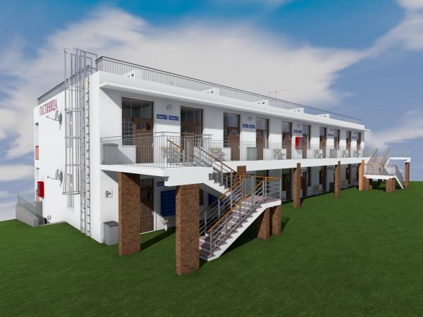 Проект двухэтажной гостиницы галерейного типа на 16 номеров
