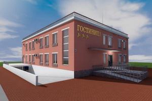 Проект трехэтажной гостиницы на 12 номеров с подземным паркингом