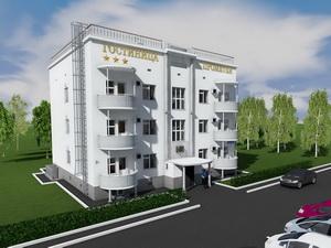 Проект трехэтажной гостиницы на 12 номеров