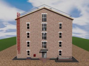 Проект девятиэтажной гостиницы на 90 номеров