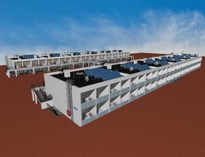 Готовый проект комплекса двухэтажных гостиниц галерейного типа