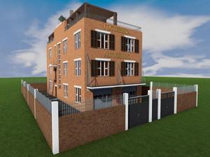 Проект трехэтажной гостиницы