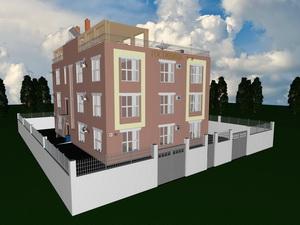Проект трехэтажной гостиницы на 15 номеров