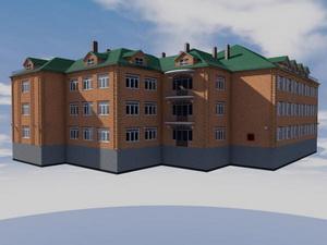 Проект четырехэтажной гостиницы
