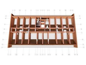 План технического этажа (чердака) многоэтажного дома