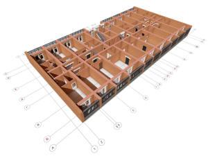 План типового этажа многоэтажного дома