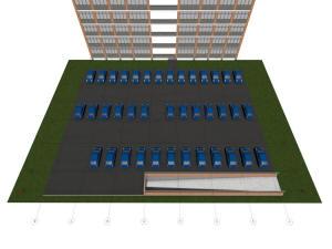 План крыши подземного паркинга