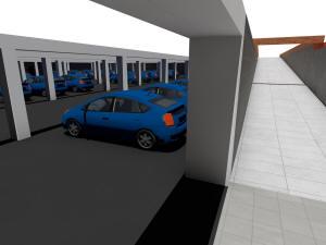 Фрагмент подземного паркинга