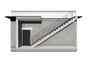 Эвакуационный путь подземного паркинга