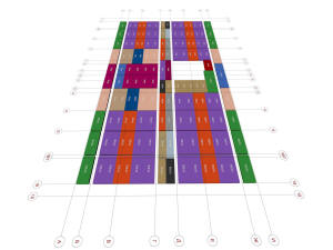 План плит перекрытий технического этажа дома