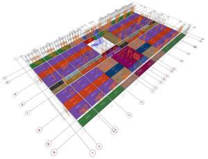 План плит перекрытий первого этажа дома