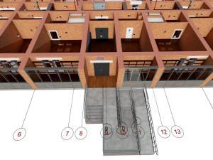 Фрагмент плана первого этажа многоэтажного дома