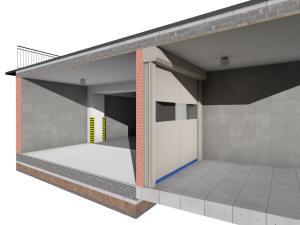 Рампа подземного паркинга - фрагмент