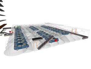 Зона орошения автоматической водяной спринклерной системой пожаротушения
