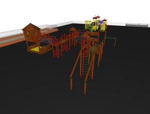 Детская площадка на крыше подземного паркинга