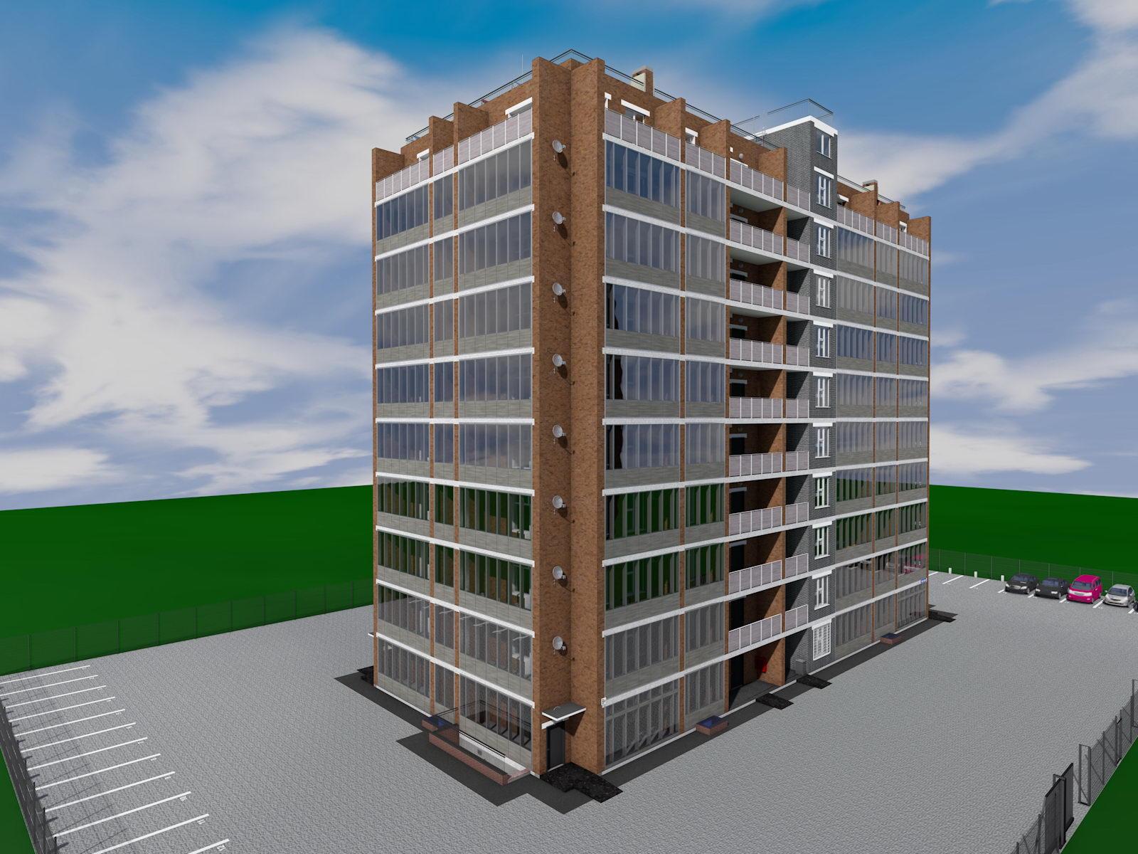 Moderné výškové obytné budovy