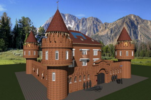 Проект частного дома в стиле старинного мини-замка