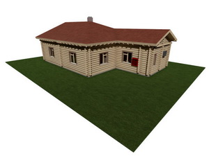 Проект одноэтажного деревянного частного дома