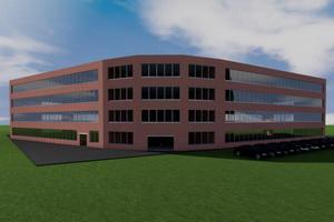 Проект четырехэтажного офисного здания