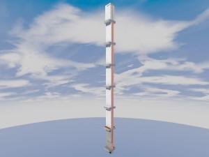 Общий вид вентканалов дома