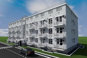 Проект одноподъездного трехэтажного жилого дома