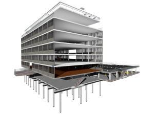 Каркас многоэтажного дома и подземного паркинга