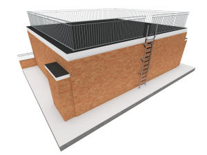 Общий вид надстройки на крыше дома