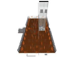 Каркасный план первого этажа