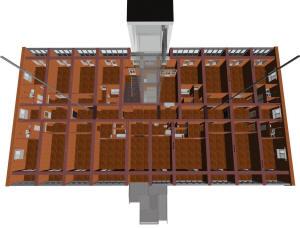 Места расположения вентканалов на первом этаже