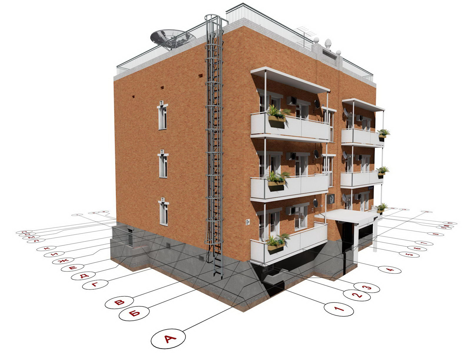 Проект трехэтажного многоквартирного дома Лабр  YouTube