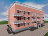 Проект трехэтажного одноподъездного дома на 24 квартиры