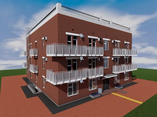 """Готовый проект одноподъездного трехэтажного дома на 24 квартиры-студии (проект """"доходного дома"""")"""