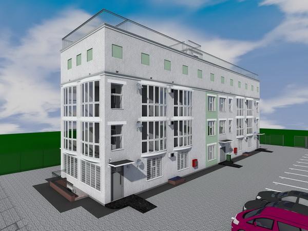 Готовый проект жилого многоквартирного трехэтажного дома на 8 квартир