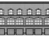 Проект двухподъездного трехэтажного здания коммерческого типа с встроенным гаражом на первом этаже