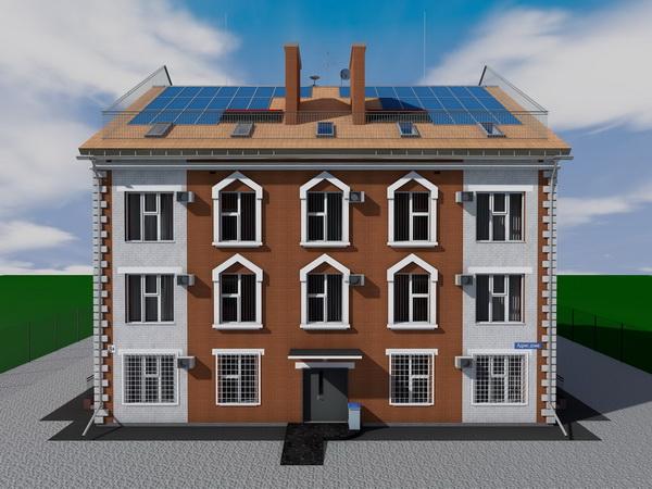 Проект двухподъездного трехэтажного дома